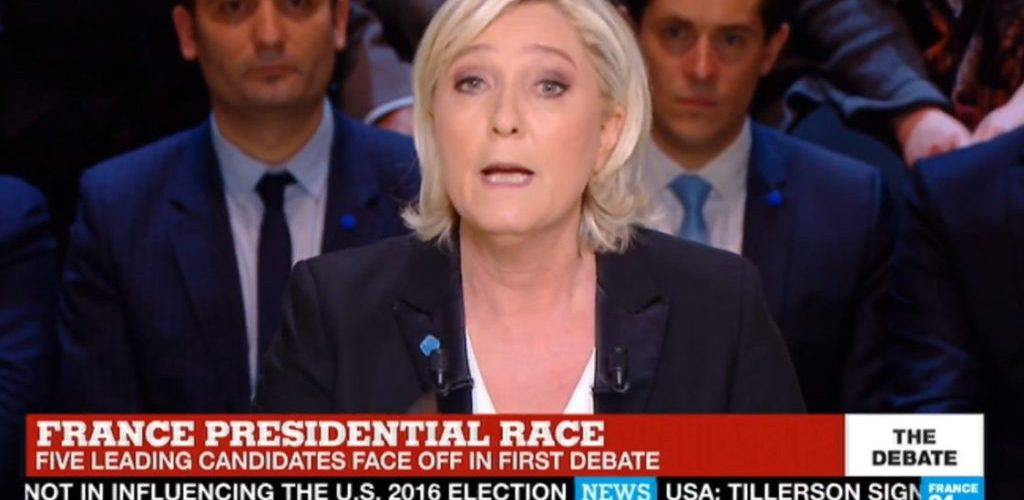 Marine Le Pen Outguns Opponents in Live Debate