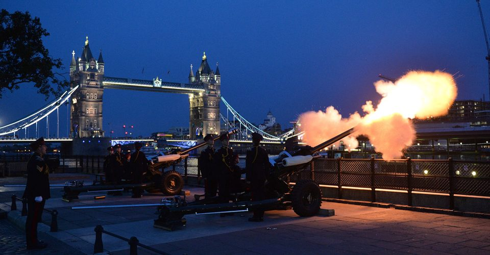 11 gun salute at 11pm on 31st January 2020 if Big Ben bongs are unavailable